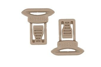 Goggle Swivel Clips Set ( Model A ) - dark earth
